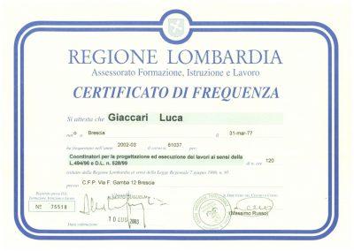 Certificato 494